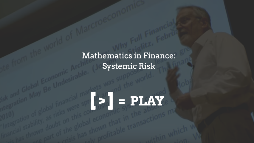 SIAM Annual Meeting: Mathematics in Finance: Systemic Risk