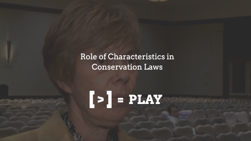 SIAM Annual Meeting: Role of Characteristics in Conservation Laws